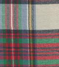 Plaiditudes Brushed Cotton Fabric 44\u0022-Green, Red & Black