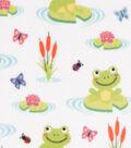 Anti-Pill Plush Fabric-Happy Frogs