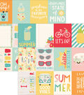 Summer Days Double-Sided Elements Cardstock 12\u0022X12\u0022-Journaling Cards