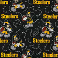 Pittsburgh Steelers Cotton Fabric-Mickey Mouses