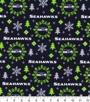 Christmas Seattle Seahawks Flannel Fabric-Holiday, , hi-res