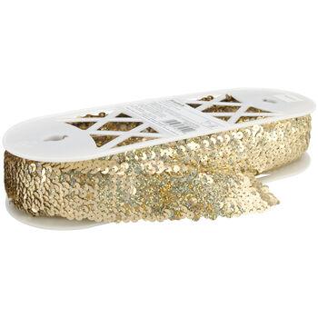 5 Row Stretch Sequins Gold Spotlite