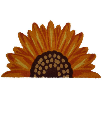 Simply Autumn Sunflower Shaped Coir Mat