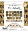 Ultimate Crafts The Ritz 24-sheet 6\u0027\u0027x6\u0027\u0027 Paper Pad-Evening Cocktail