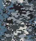 Snuggle Flannel Fabric 42\u0022-Blue Gray Camo