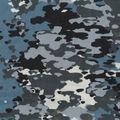 Snuggle Flannel Fabric -Blue Gray Camo