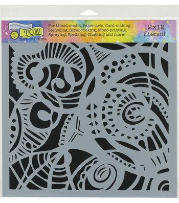 The Crafter's Workshop 12''x12'' Stencil-Free Swirl