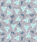 Premium Prints Cotton Fabric 43\u0022-Blue Birds on Gray