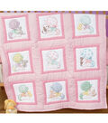 Stamped White Nursery Quilt Blocks 9\u0022X9\u0022 12/Pkg-Sunbonnet Babies
