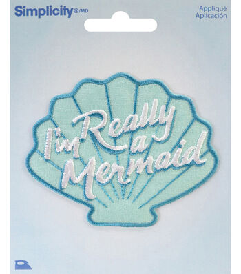 Simplicity Shell Iron-on Applique-I'm Really a Mermaid