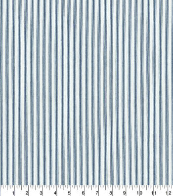 """Waverly Upholstery Fabric 13x13"""" Swatch-Classic Ticking Navy"""