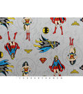 DC Comics Flannel Fabric-Gray
