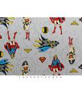 DC Comics Flannel Fabric 42\u0022-Gray