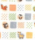 Nursery Flannel Fabric -Woodland Patchwork