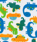 Snuggle Flannel Fabric -Sunny Dinos