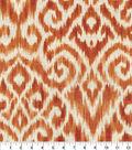Williamsburg Multi-Purpose Decor Fabric 54\u0027\u0027-Persimmon Thompson Ikat
