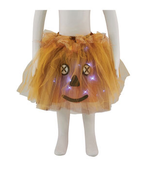 Maker's Halloween Child Scarecrow Tutu with LED Lights