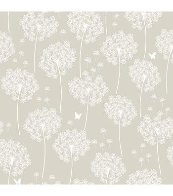 WallPops NuWallpaper Dandelion Taupe Peel And Stick Wallpaper