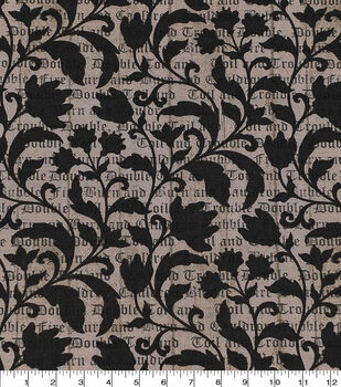 Halloween Cotton Fabric-Double Trouble Spell & Vines