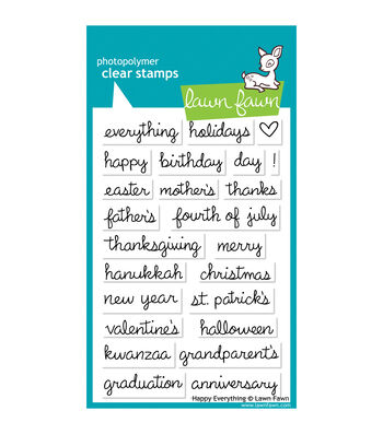 "Lawn Fawn Clear Stamps 4""X6""-Happy Everything"