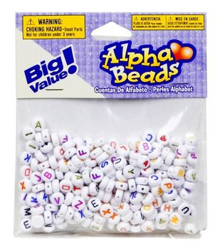 Big Value! Alpha Beads-White 7mm