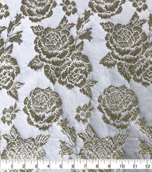 Sew Sweet Rose Brocade Fabric-Gold/Ivory