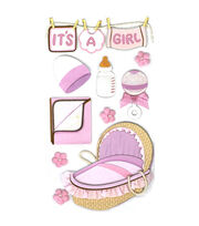 Jolee's Boutique Le Grande Dimensional Sticker-Baby Girl, , hi-res