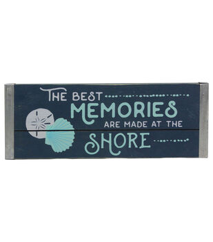 Seaport Tabletop Decor-The Best Memories Are Made At The Shore