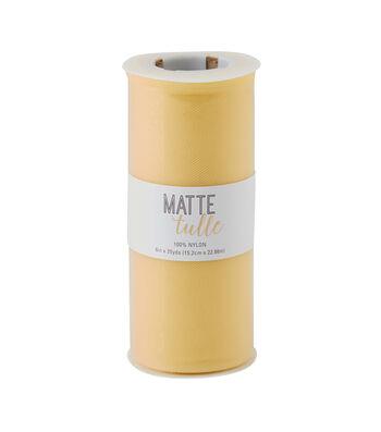 Matte Tulle Spool 6''x25 yds-Sunshine