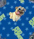 Disney Junior Puppy Dog Pals Cotton Fabric 43\u0027\u0027-Pug Power