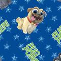 Disney Junior Puppy Dog Pals Cotton Fabric -Pug Power