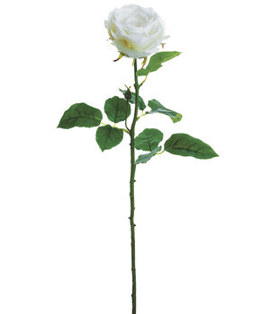 Bloom Room 27'' Real Touch Rose Stem-White