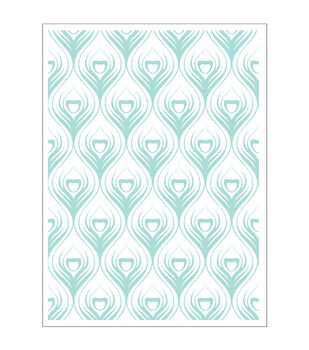 Park Lane A2 Embossing Folder-Peacock Feathers