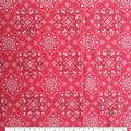 Sportswear Denim Fabric-Red Medallions