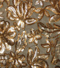 Casa Collection Mesh Sequin Embellished Fabric -Floral