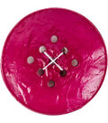 Crafting with Buttons Large 9 Hole Button-Purple