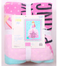 No Sew Fleece Throw 48\u0022-Princess Tiara
