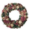 Handmade Holiday Christmas 18.9\u0027\u0027 Pinecone Wreath-Multi