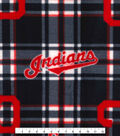 Cleveland Indians Fleece Fabric -Plaid