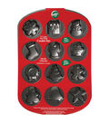 Wilton Mini Cookie Pan-12 Cavity Holiday