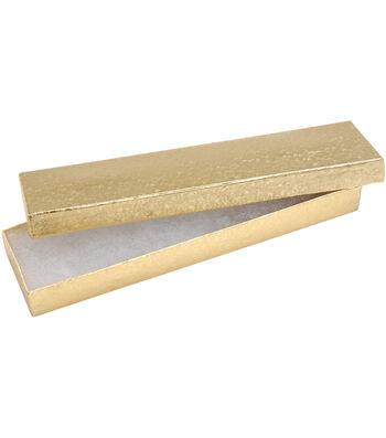 "Darice Jewelry Boxes Gold 8""X2.17""X0.88"""