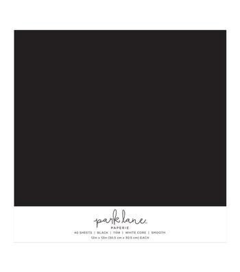 Park Lane 40 pk 12''x12'' Value Papers-Black