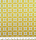 Knit Prints Pima Cotton-Yellow White Geo Circles