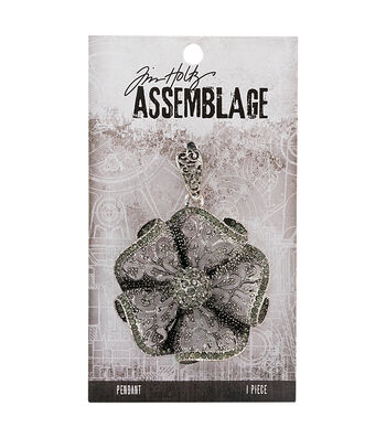 Tim Holtz Assemblage 2''x2.75'' Milagros Antique Silver Charms