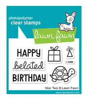 "Lawn Fawn Clear Stamps 3""X2""-Year 2, , hi-res"