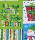 Snuggle Flannel Fabric -Tis The Season Patchwork