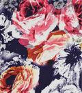 Silky Prints Shine Fabric 57\u0022-Roses