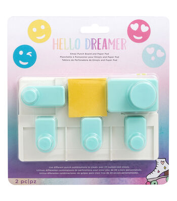 American Crafts Hello Dreamer Emoji Punch Board