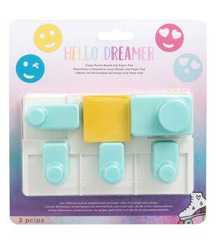American Crafts Hello Dreamer Emoji Punch Board