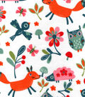 Snuggle Flannel Fabric -Happy Woodland Friends